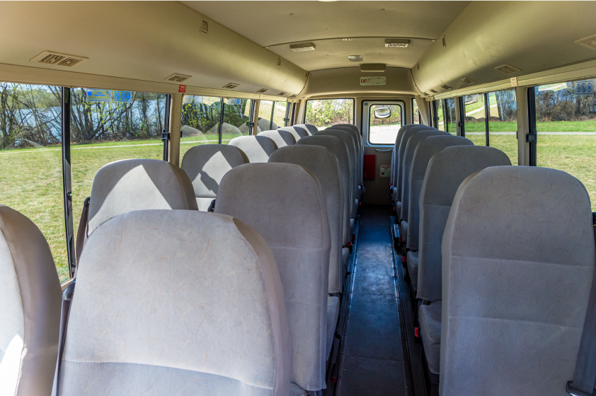 inside view 24 seat bus