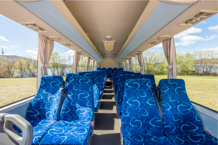 Inside 33 Seat Bus